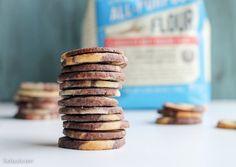Chocolate Vanilla Swirl Icebox Cookies
