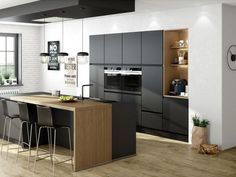 Modern kitchen Touch Black & Oak Ontario Choosing your kitchen design you ., Modern Kitchen Touch Black & Oak Ontario Choosing your kitchen design from the multitude of kitchen decorating ideas that abound can be an incredible .