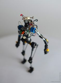 Miniature Toy Robots Made from Recycled Electronic Components