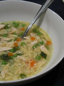 Kitchen Trial and Error: toasted orzo chicken soup