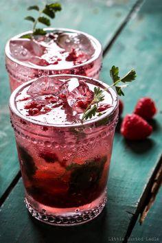 Raspberry Burnet Soda Pop- Little Rusted Ladle - #foodphotography #drinkrecipes #foodstyling