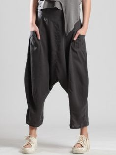 SUPER LOW-CROTCH LYOCELL TROUSERS