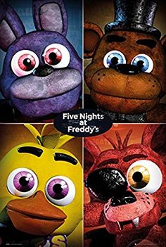 """5 Nights At Freddy's - Gaming Poster / Print (Character Grid) (Size: 24"""" x 36"""")"""
