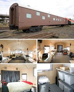 Posh Train Car Apartment. this might be a cool alternative to shipping container homes.