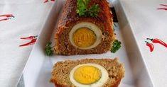 """Minden nagyobb ünnep alkalmával készül fasírtrúd, amiben van egész főtt tojás. Ezt csak """"szemes"""" fasírtnak hívjuk :-) Előre megsüthető, hide... Avocado Egg, Avocado Toast, Hungarian Recipes, Hungarian Food, Starters, Entrees, Sushi, Healthy Living, Food And Drink"""