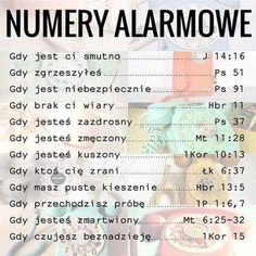 Numery Alarmowe ! Bible Tattoos, Polish Words, Religion, Jesus Pictures, God Loves You, Psychology Facts, God Is Good, Peace Of Mind, Trust God