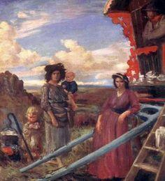 Augustus Edwin John - Encampment On Dartmoor
