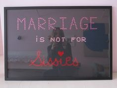 marriage is not for people (whatever combo of genders) who aren't willing to tough it out and stay together