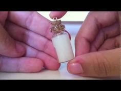 Milk Glass Bottle Charm Tutorial