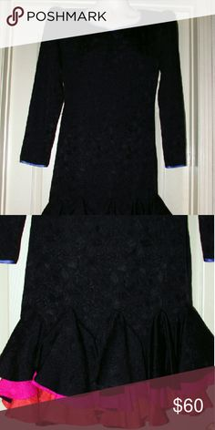 """Vintage Flora Kung  100% silk dress size 8 Item PMEBTC-0345 This is a pre-owned vintage dress in near-new condition. The style is very classic so it can be worn for years to come. There are no issues in regards to this dress. It is 100% silk with long sleeves. The measurements were taken while the Garment was laying flat and then doubled. Please note all measurements are approximate. Bust  37"""" around  Waist 34"""" around  Hips  37"""" around Flora Kung Dresses Midi"""