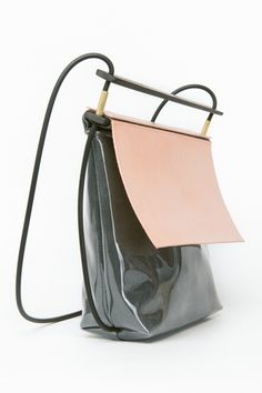 8 Indie Brands To Know And Wear #refinery29, This vinyl-leather hoopla of a bag is handcrafted in Brooklyn - Chiyome Nude Shine Bag, $345, available at ANTHOM.