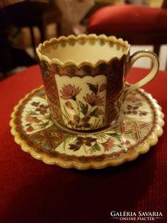 Antik zsolnai kávés csésze