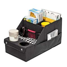Foldable Trunk Storage Organizer Suitable for Any Car SUV Reinforced Handles Mini-Van Model Size Black