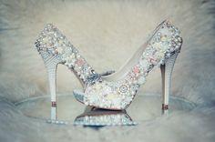 Covet Bespoke'd Bridal Couture Shoes Embellished Bridal Shoes Covet Bespoke Milliner