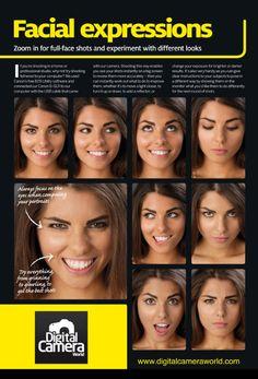 poses01 facial - facial expression for camera poses