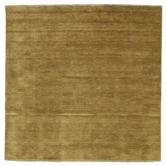 Handloom fringes - Olijfgroen tapijt 200x200