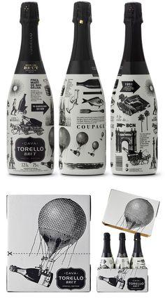 SPECIAL EDITION Packaging para la Edición Especial de Torello Cava Brut para el mercado Europeo. Packaging design for the Special Edition of Torello Cava Brut for the European Market.