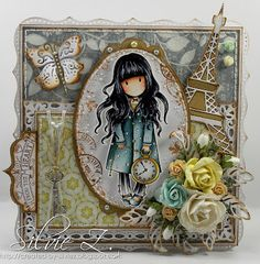 Created-By-Silvie-Z, Gorjuss Girls stamp Pretty Cards, Cute Cards, Theme Anglais, Magnolia Stamps, Pintura Country, Copics, Cute Characters, Color Card, Kids Cards