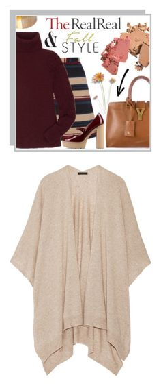 """r"" by fashionme-s13 ❤ liked on Polyvore featuring Yves Saint Laurent, Oasis, The Row, Isabel Marant, RED Valentino, outerwear, cardigans, jackets, my clothes and cashmere capes"