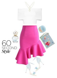 """""""Untitled #534"""" by fashondoll ❤ liked on Polyvore featuring Chicwish, Sophia Webster, Rosetta Getty, Marc Jacobs, Shiseido, asymmetricskirts and 60secondstyle"""