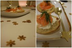 Salmon blinis for new year's eve 2010