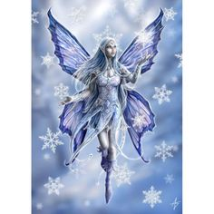 """Snowflake Fairy"" Anne Stokes Magic Yule Card - StormJewel's Gifts"