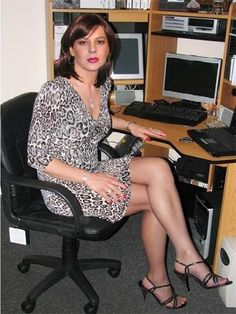 Husband working from home this week all dressed up girly!