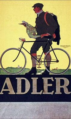 Adler | Bicycle vintage advert | Cycles retro poster