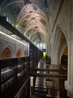 Selexyz Dominicanen Maastricht, designed by architecture firm Merkx + Girod. Rehabbed 13th century Dominican church in Maastricht, Holland.
