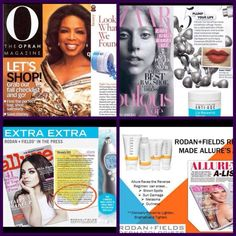 All 3 FAVE products that make up the famous Nighttime Mini Facial from Rodan + Fields have been featured in top magazines. Gotta love the Microdermabrasion Paste!! Get your skin glowing too! Message me for more info. rf.1234skincare_tkb@yahoo.com