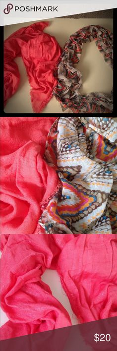 Bundle of two scarves! Bundle of two scarves! One circle scarf patterned! One solid regular scarf! Accessories Scarves & Wraps
