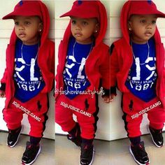 Fairly baby Boy Swag 2 or more piece create features a black tee and cover up trousers. Toddler Boy Fashion, Little Boy Fashion, Toddler Outfits, Baby Boy Outfits, Toddler Boys, Kids Outfits, Kids Fashion, Toddler Preschool, Baby Boys