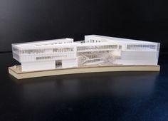 maquette d'architecture pour le learning center de Saclay architecte: www.plasticine.fr maquette: www.alpha-volumes.com