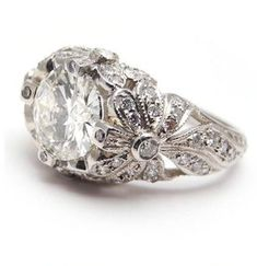 Antique-Style Diamond Engagement Ring, simply gorgeous!