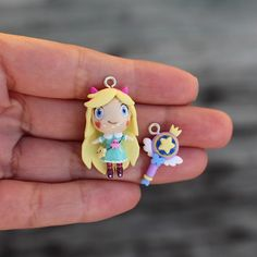 The first I heard of Star Vs the Forces of Evil was when asked to make it for a… Butterfly Crafts, Star Butterfly, Fimo Clay, Polymer Clay Charms, Diy Star, Clay Crafts, Paper Crafts, Ps Store, Star Y Marco