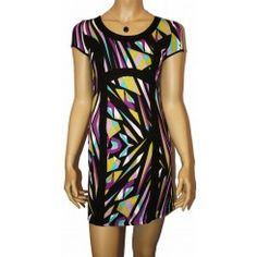 John Rocha Abstract Stretch Dress. Sizes 8-18.