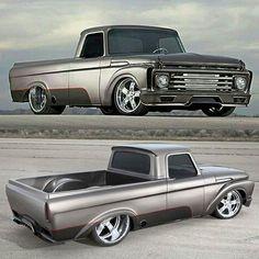 twin-turbo Built by Randy Weaver Source link Bagged Trucks, Old Ford Trucks, Old Pickup Trucks, Big Rig Trucks, Cool Trucks, Fire Trucks, Classic Ford Trucks, Best Muscle Cars, Us Cars