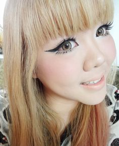 GEO Holicat Barbie Hazel circle colored contact lens. Amazing colored cosmetic lenses to sweeten up your look! #eyecandys