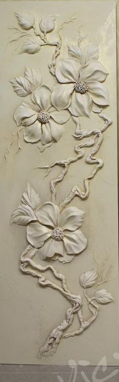 CUADRO BLANCO Sculpture Painting, Mural Painting, Sculpture Clay, Mural Art, Wall Sculptures, Plaster Crafts, Plaster Art, Clay Crafts, Clay Wall Art