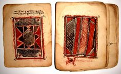 abu dervish: Ancient Manuscript Review 97 : Antique African Islamic Magical Amulet ( 18-19th century) found in small leather pouch.