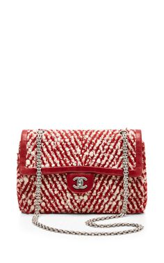 Chanel Red & White Boucle Bag by What Goes Around Comes Around for Preorder on Moda Operandi