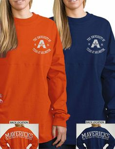 University of Texas at Arlington Mavericks Women's Ra Ra Football Long Sleeve T-Shirt | University Of Texas At Arlington
