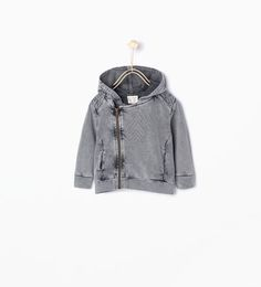 Hooded biker jacket-Sweatshirts-Baby boy (3 months - 3 years)-KIDS | ZARA United States