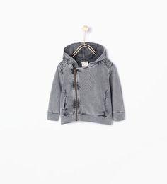 Hooded biker jacket-Sweatshirts-Baby boy (3 months - 3 years)-KIDS | ZARA United States