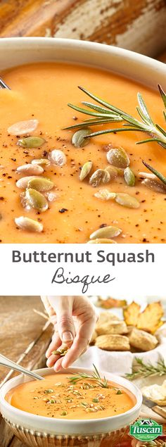 Low in fat but high in fiber, potassium and Vitamin A. This rich and hearty soup is made extra creamy with potatoes and whole milk. - See more at: http://tuscandairy.com/recipes/butternut-squash-bisque#sthash.djK6PJ9X.dpuf