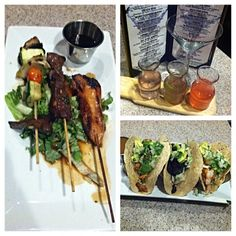#FlightNight at the #postofficecafe! #Martini #flight, #tacosampler and #skewer #sampler. #longislandfoodie #drinklocal #eatlocal