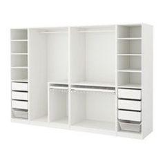 PAX Kleiderschrank, weiß - weiß - 300x58x201 cm - IKEA