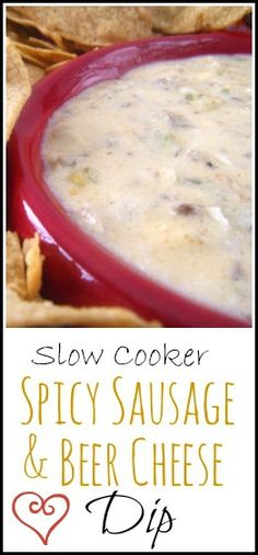 Slow Cooker Spicy Sausage & Beer  Cheese Dip | snappygourmet.com