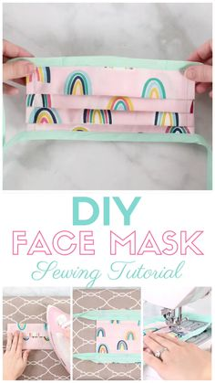 Learn How to Easily Sew a Surgical Face Mask With Ties and Flexible Nose Piece With This Step-By-Step Tutorial With Video mask diy mask filter mask free printable mask homemade mask how to make one mask pattern Small Sewing Projects, Sewing Projects For Beginners, Sewing Tutorials, Sewing Hacks, Craft Projects, Dress Tutorials, Sewing Blogs, Sewing Tips, Sewing Machine Projects