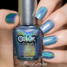 Color Club Over - The Moon Nail Polish. So stunning, the most beautiful blue holo!